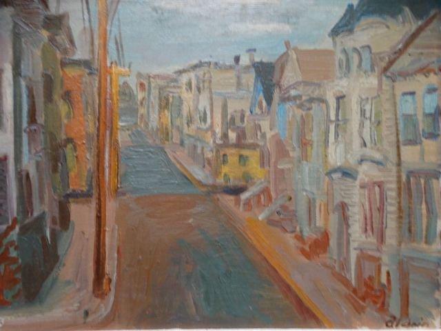 "Anders Aldrin San Francisco ""Up Street"" 1943 Oil on"