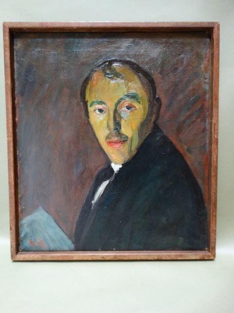 Self Portrait Ejnar Hansen Oil On Canvas 1920