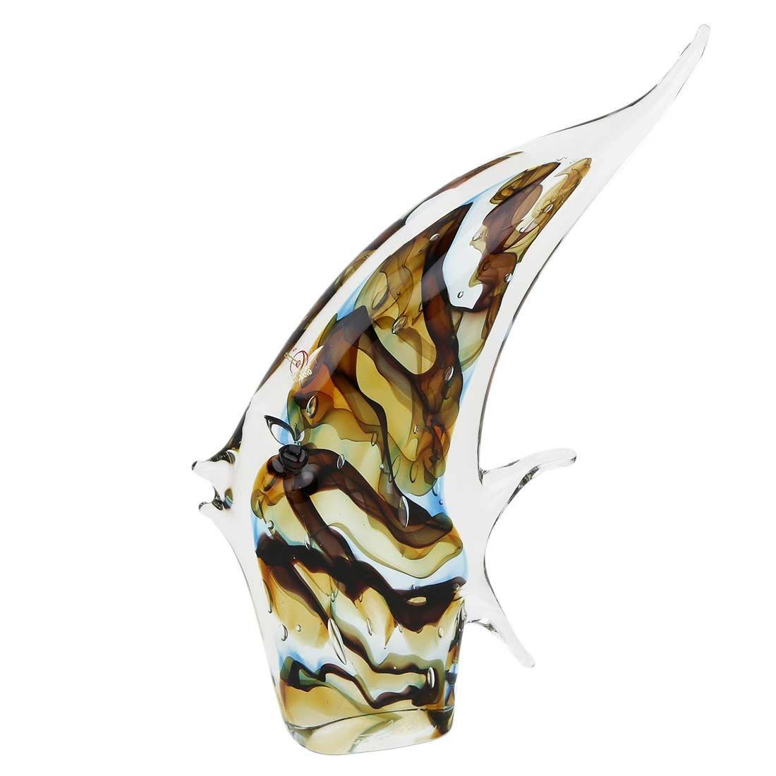 Murano Art Glass Angel Fish - Sommerso