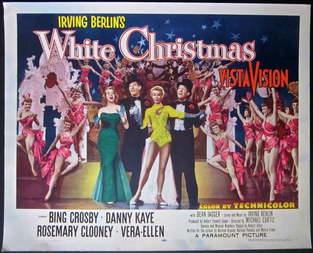 WHITE CHRISTMAS 1954 HALF SHEET PB POSTER - CROSBY SHOW