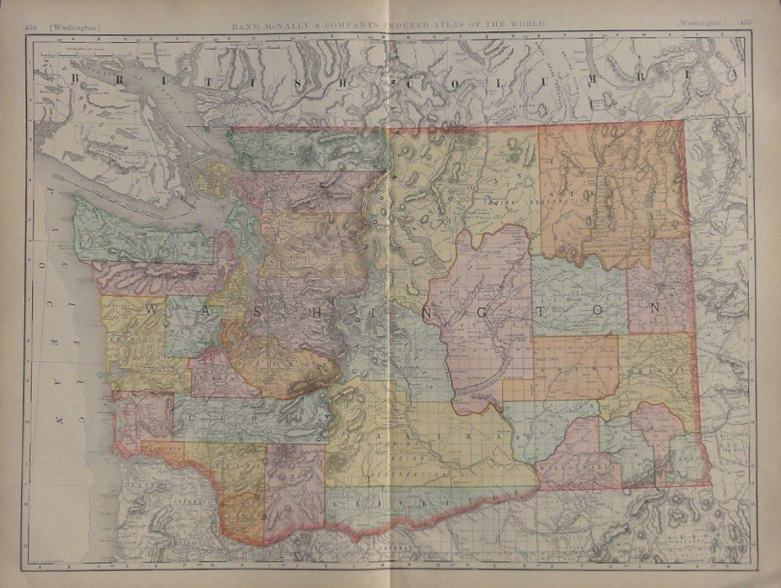 Map of Washington State, 1895