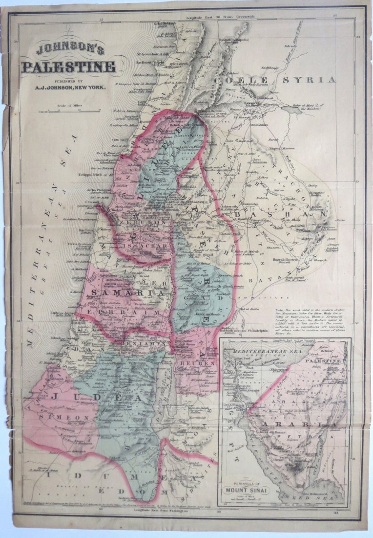 Palestine by Johnson, 1867