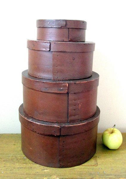 Painted Pantry Box Stack