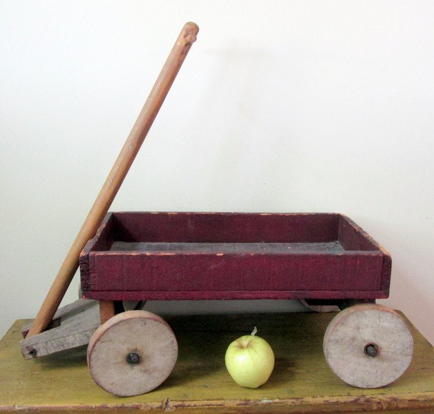 Child's Painted Wooden Wagon