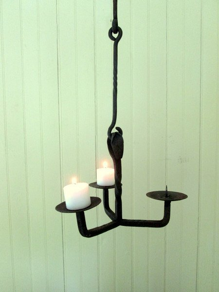 Early, Rare, Small Pricket Chandelier