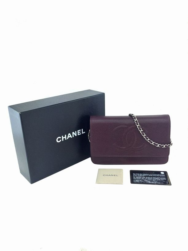 Chanel Caviar Leather Timeless Wallet on Chain - 10
