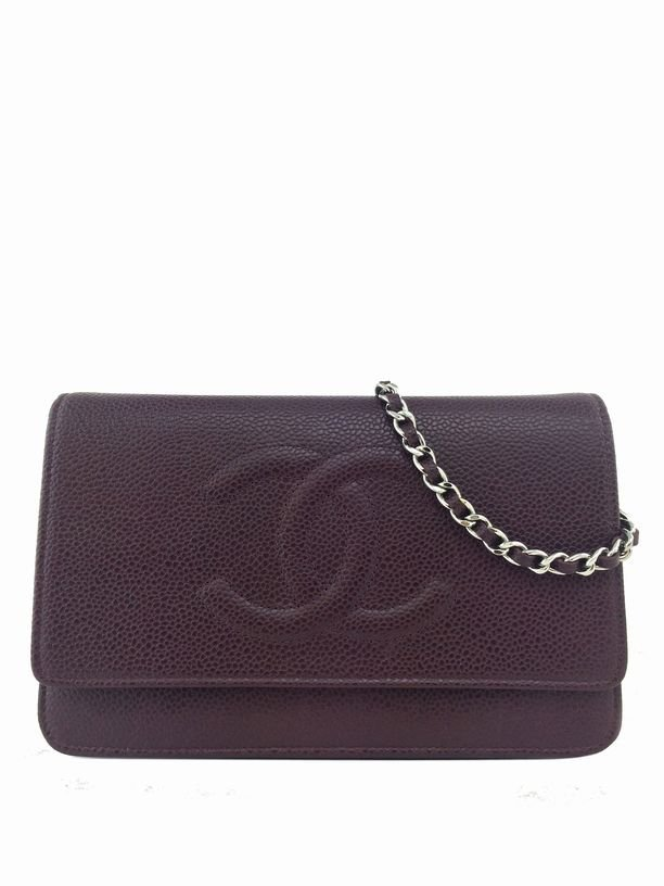 Chanel Caviar Leather Timeless Wallet on Chain