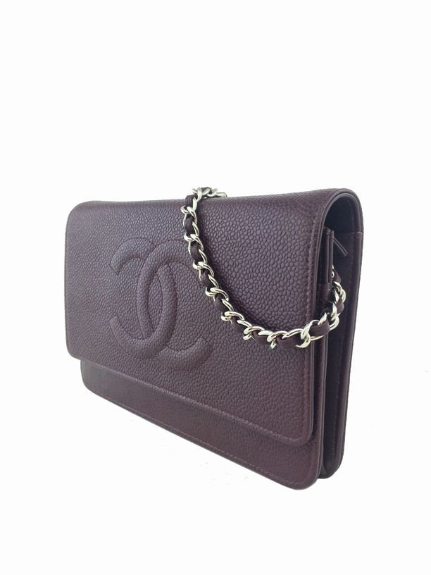 Chanel Caviar Leather Timeless Wallet on Chain - 3