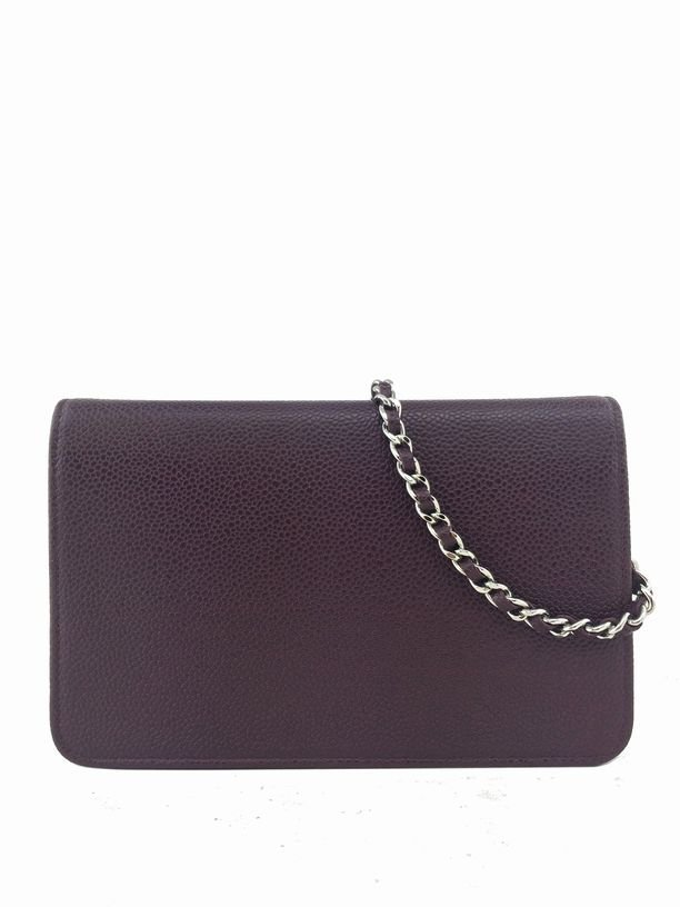 Chanel Caviar Leather Timeless Wallet on Chain - 4