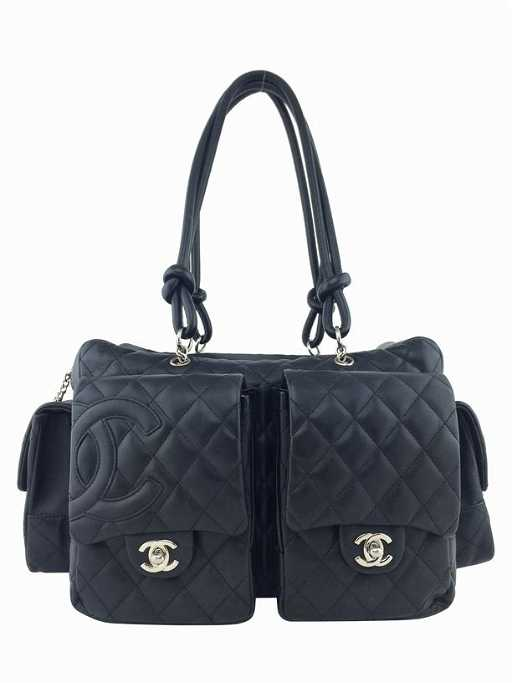 a7ea71f9ba Chanel Ligne Cambon Quilted Large Black Reporter Bag
