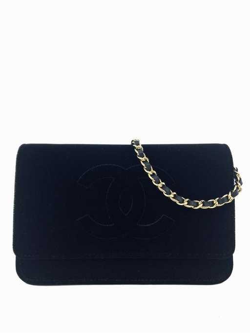 dfac12da480d69 NEW Chanel Velvet Timeless Wallet on Chain