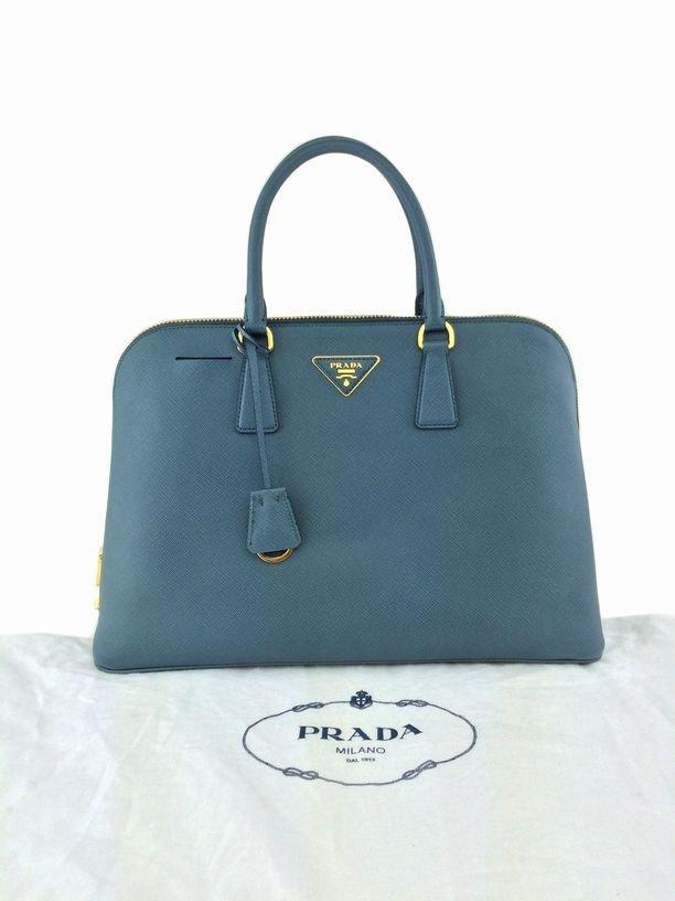 Prada Saffiano Promenade Bag Marine Blue Bag - 10