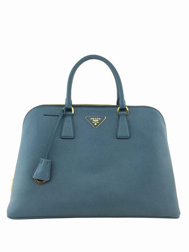 Prada Saffiano Promenade Bag Marine Blue Bag