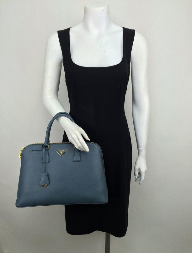 Prada Saffiano Promenade Bag Marine Blue Bag - 2