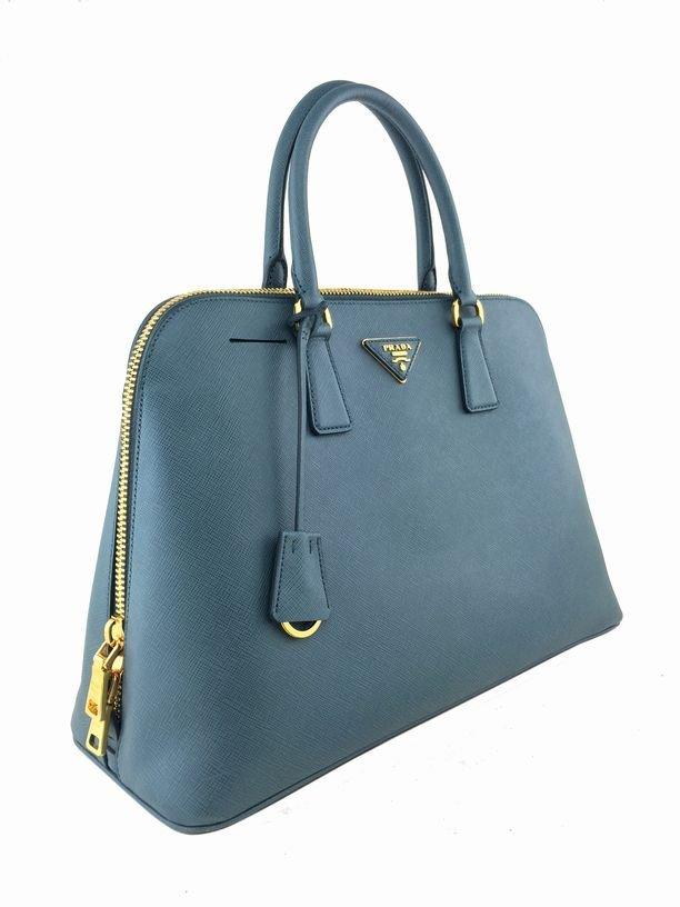 Prada Saffiano Promenade Bag Marine Blue Bag - 3