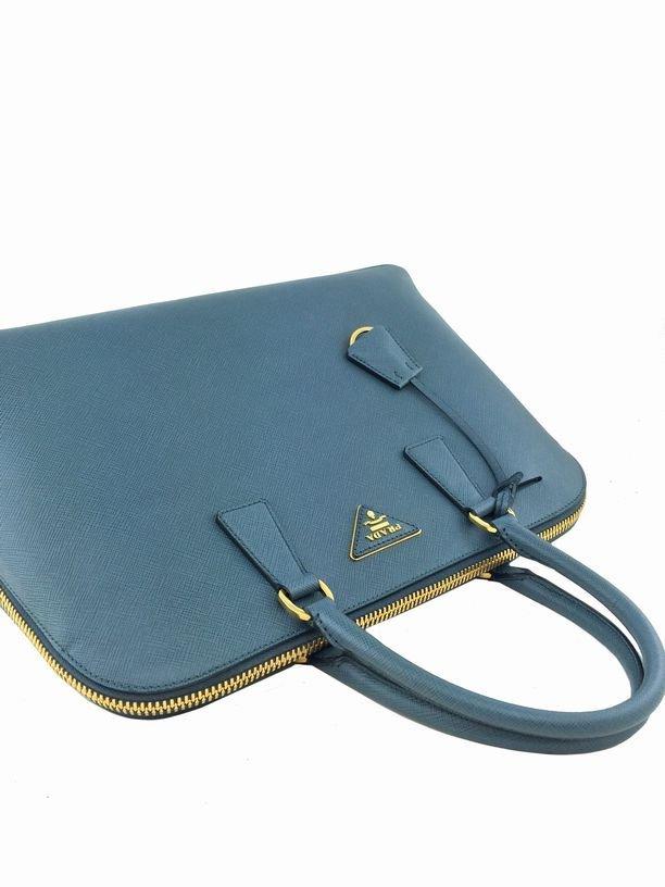 Prada Saffiano Promenade Bag Marine Blue Bag - 5