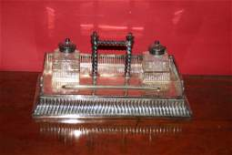 Silver Plate Inkstand