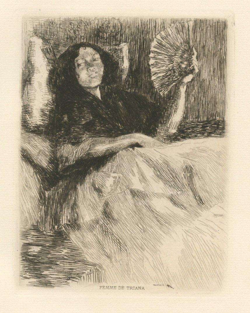 "Alexandre Lunois ""Femme de Triana"" Etching"