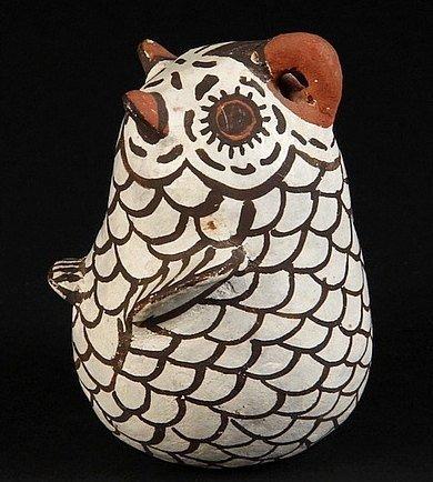Zuni Pottery Owl By Nellie Bica