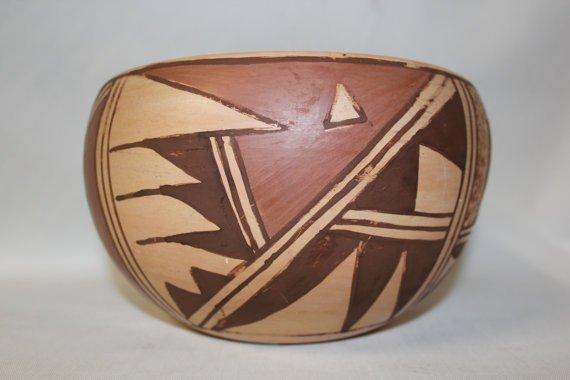 Native American Hopi Pottery Bowl, By Katherine