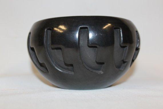 Native American, Santa Clara Carved Pottery Jar, By