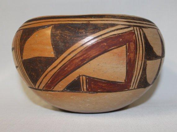 Traditional Designed Hopi Polychrome Bowl