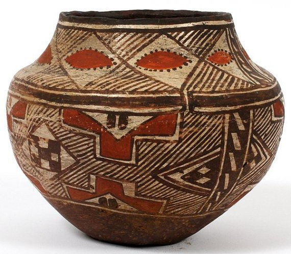 Historic Southwest American Indian Polychrome Olla