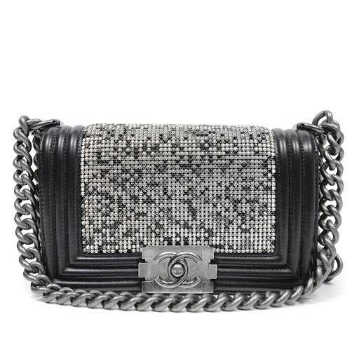 e3e7d0c53fee Chanel Black Swarovski Crystal Boy Bag. placeholder. See Sold Price
