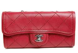 Chanel Red Leather Convertible Cross Body Bag