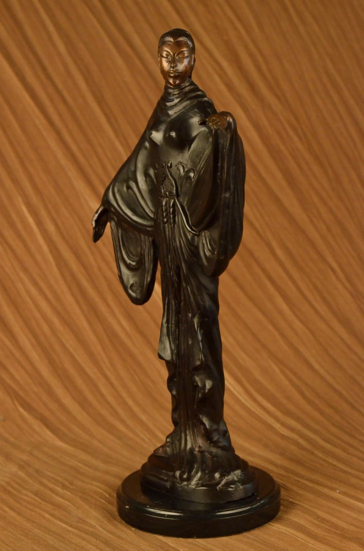 Decorative Heavy Bronze Sculpture on Marble Base