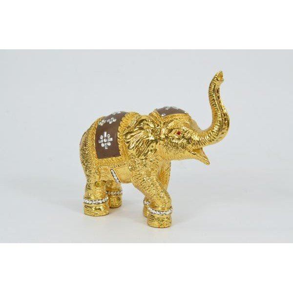 Golden Plated Bronze Elephant Sculpture