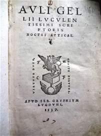 Auli Gellii Luculentissimi scriptoris, 1537
