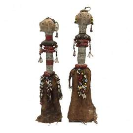 Pair Bagara Dolls With Beads