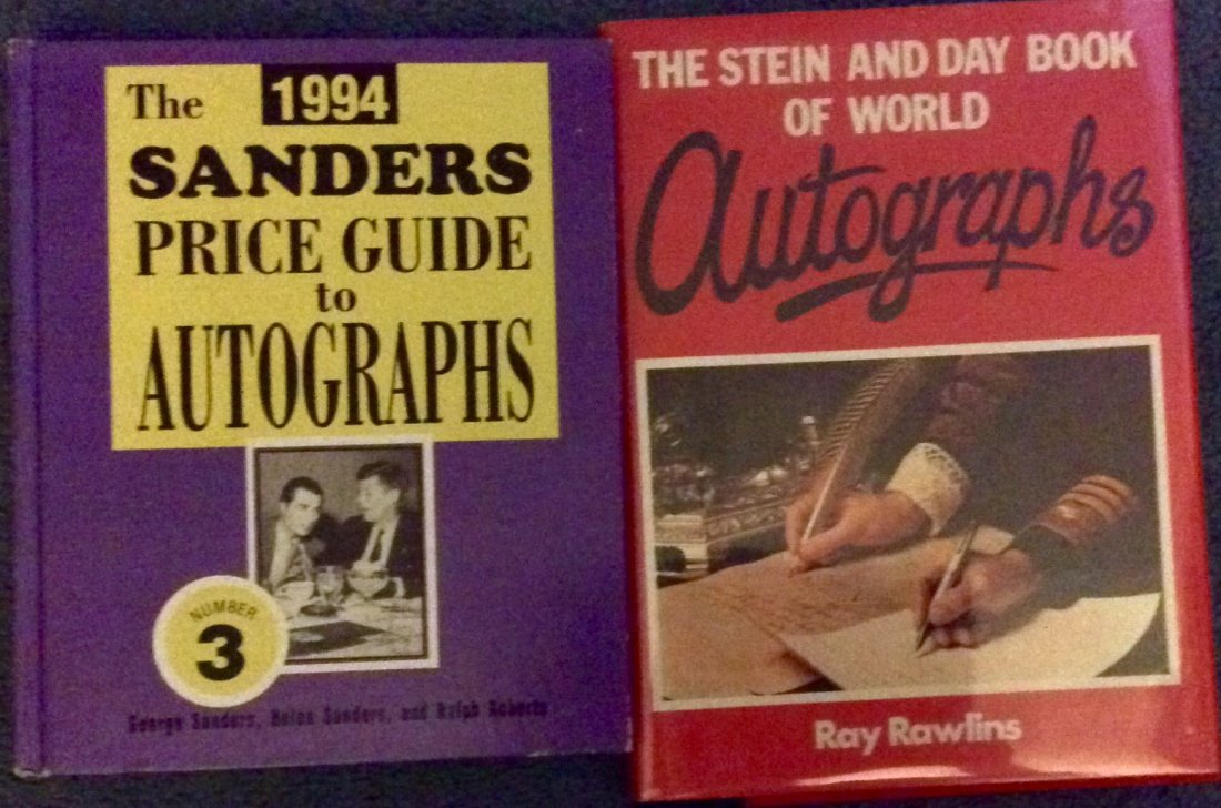 2 Collector-Dealer Essential HC Autograph Reference Bks