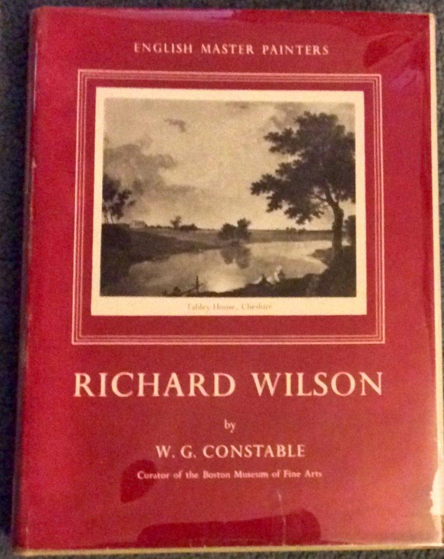 VINTAGE Art Bio on 18th Century Painter Richard Wilson