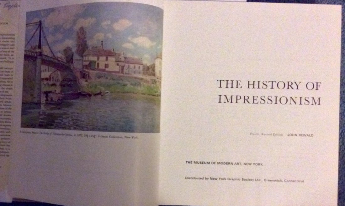 VINTAGE Hardcover Art Reference Impressionism History - 2