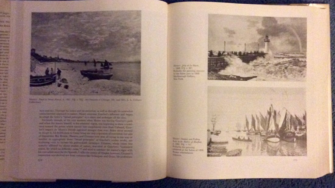 VINTAGE Hardcover Art Reference Impressionism History - 3