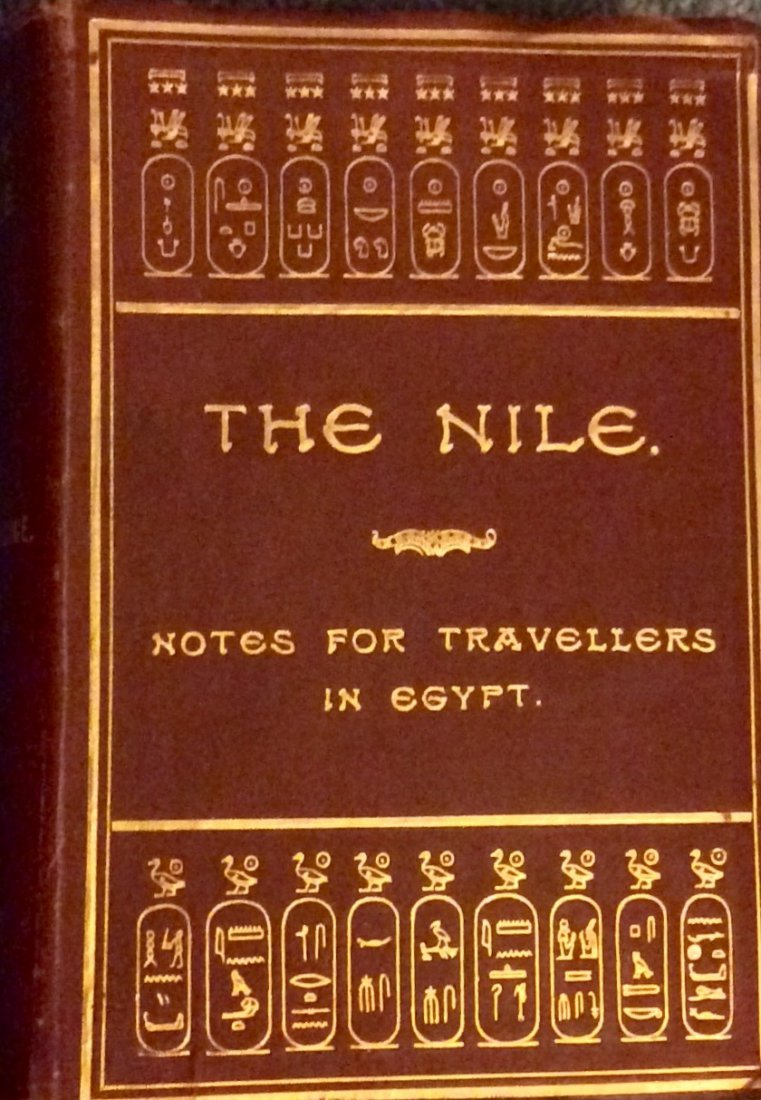 ANTIQUE 1901 Gilt Decorated Egyptian Travel Book