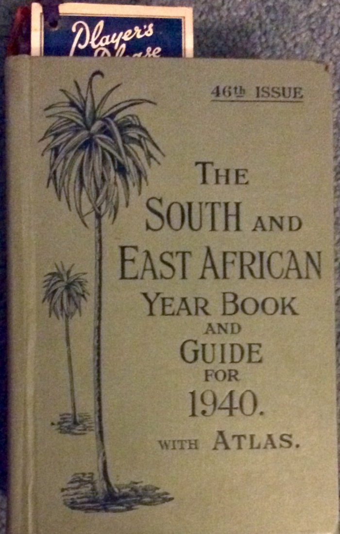 Vintage 1940 Decorated HC South/East African Travel bk