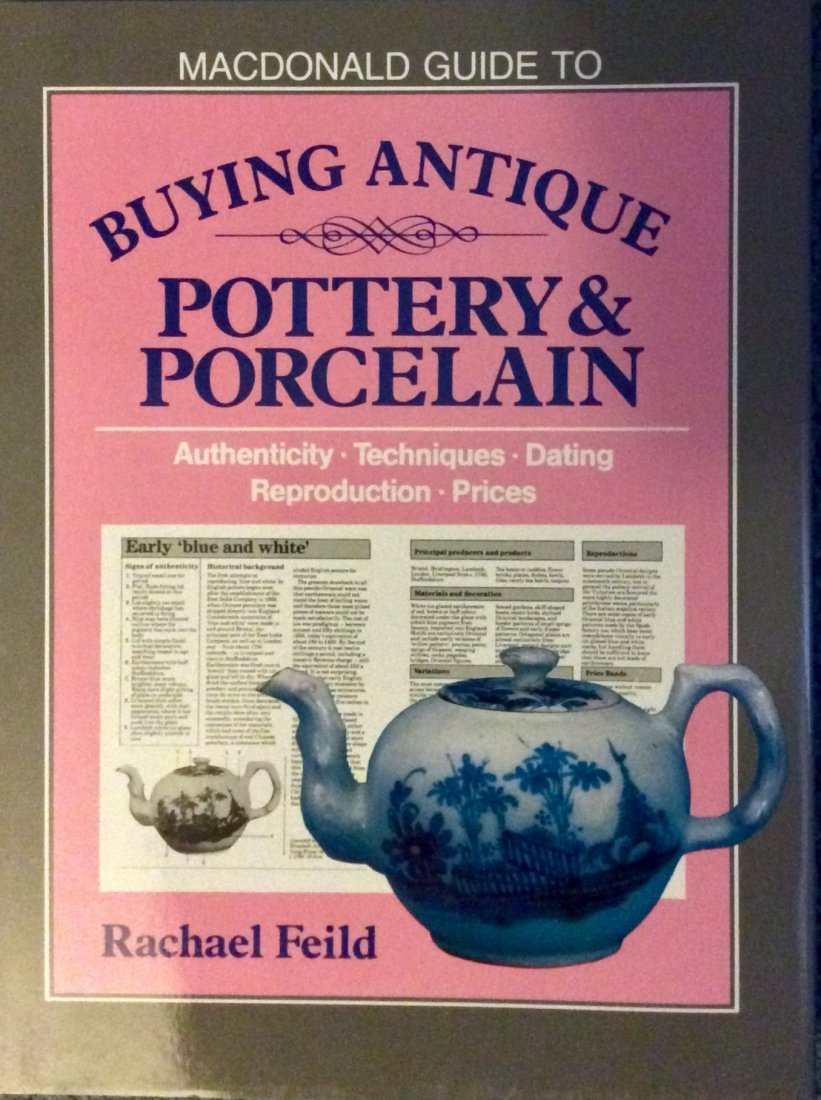 HC Antique Reference Book On Pottery & Porcelain