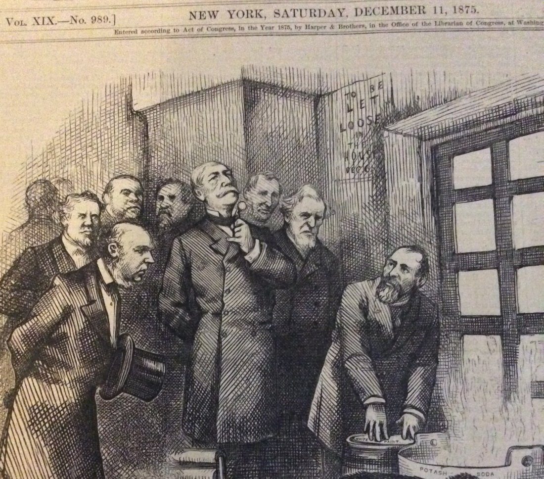 ANTIQUE 1875 Thomas Nast Full Page Harper's Weekly - 3