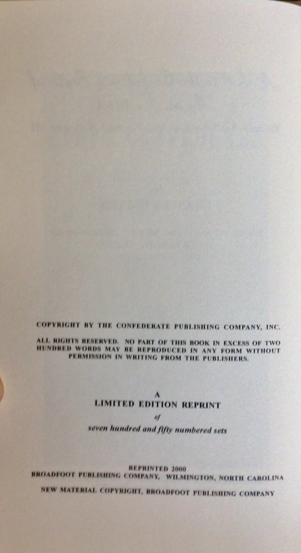 Limited Ed HC CW History in DJ. 1863 Confederate States - 2