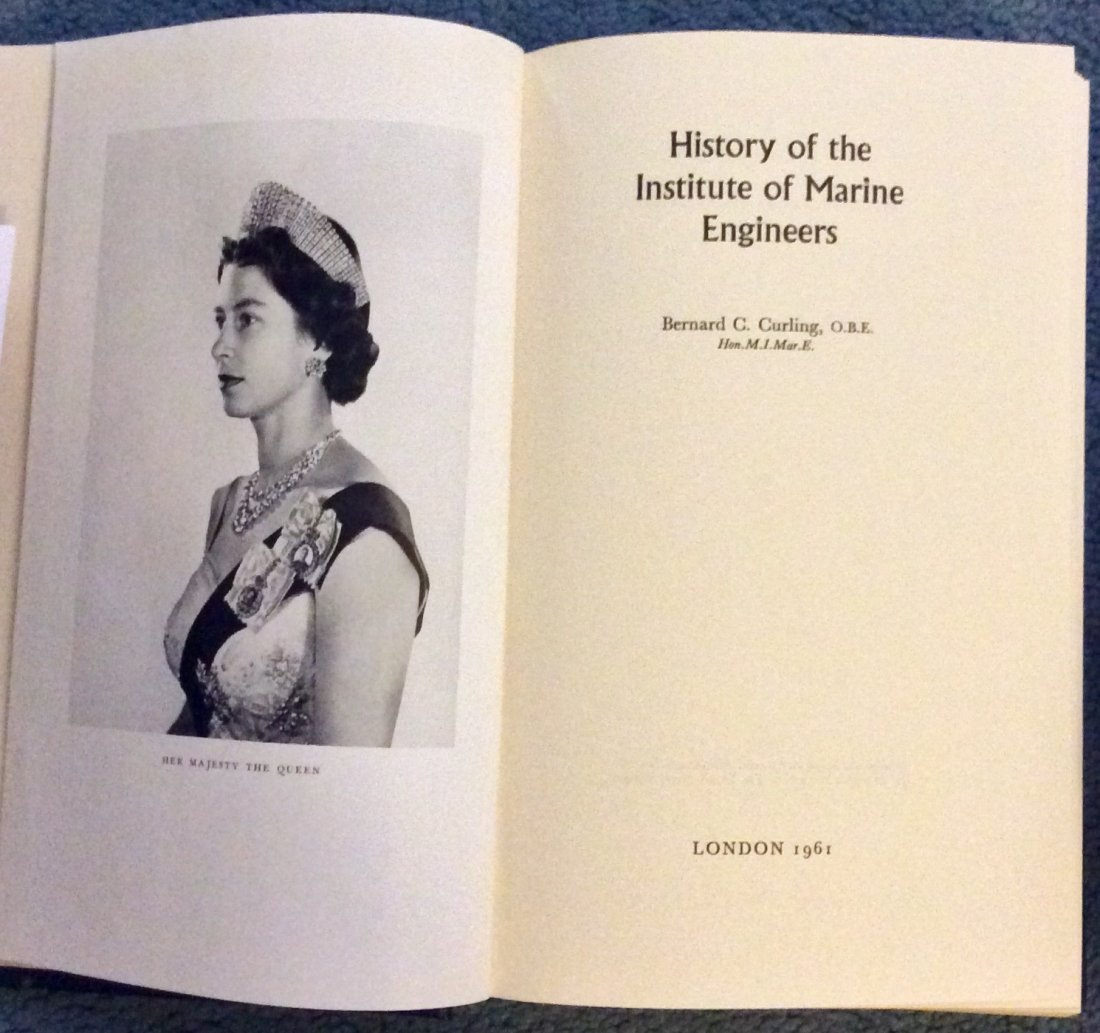 Collectible HC History Of Institute Of Marine Engineers - 2