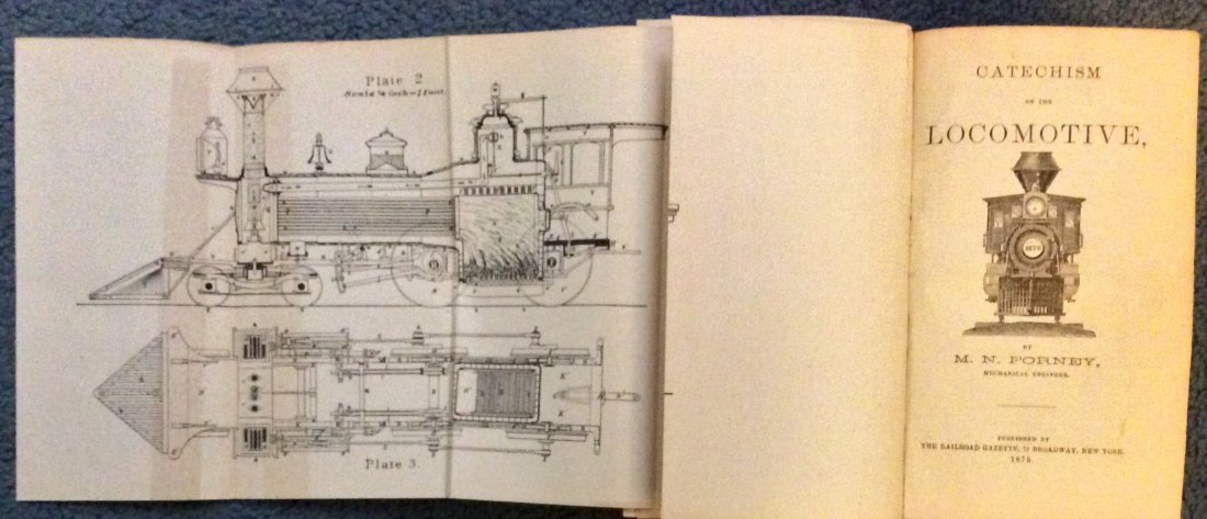 ANTIQUE 1875 Heavily Illustrated Locomotive Technical - 2