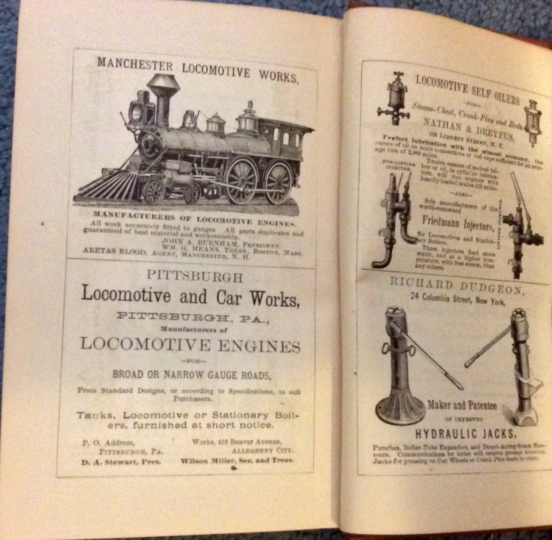 ANTIQUE 1875 Heavily Illustrated Locomotive Technical - 6
