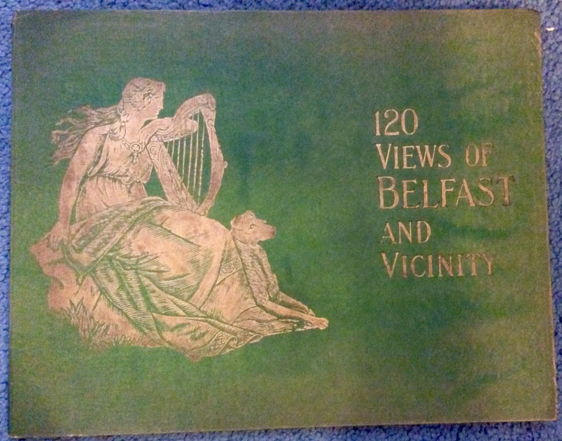 ANTIQUE Gilt Decorated Photographic Views Of Belfast HC