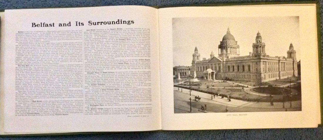 ANTIQUE Gilt Decorated Photographic Views Of Belfast HC - 2
