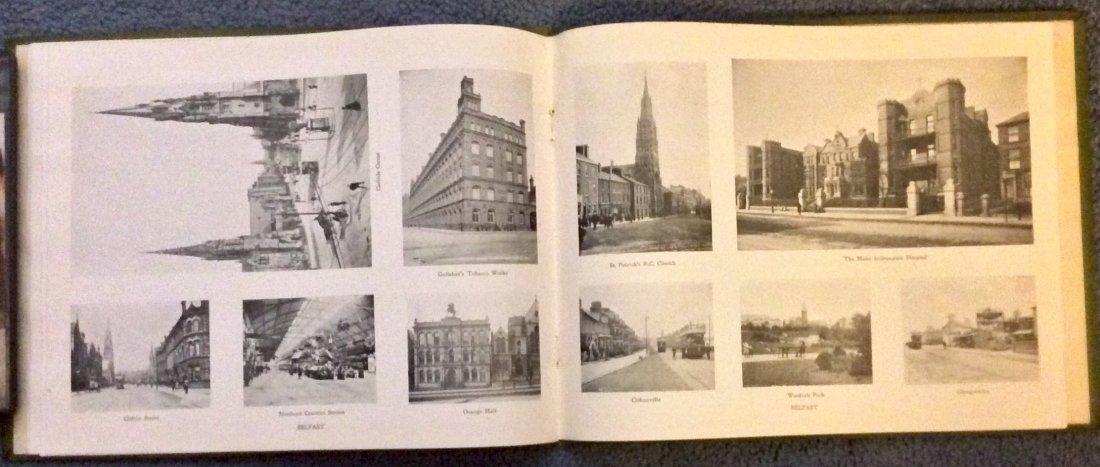 ANTIQUE Gilt Decorated Photographic Views Of Belfast HC - 3