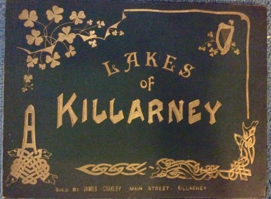 ANTIQUE Gilt Decorated Views Of Lakes Of Killarney