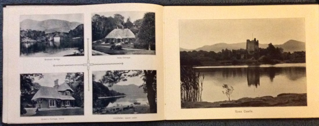ANTIQUE Gilt Decorated Views Of Lakes Of Killarney - 4